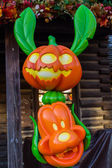 Disneyland Paris decorations with stitch and goofy, during Halloween Celebrations