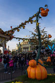 Disneyland Paris Castle during Halloween Celebrations