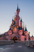 Disneyland Paris Castle during at sunset, Paris, France