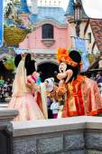 Minnie and Mickeyduring Disneyland Paris Parade and show