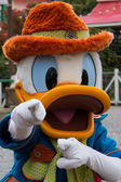Character during Disneyland Paris Parade and show.