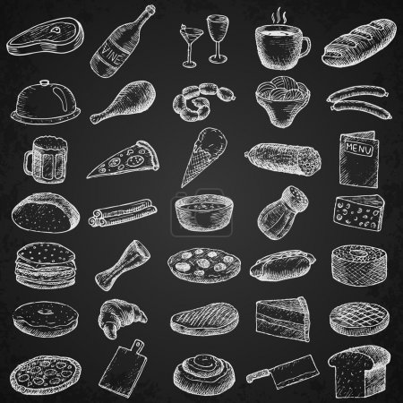 Set of restaurant icons.