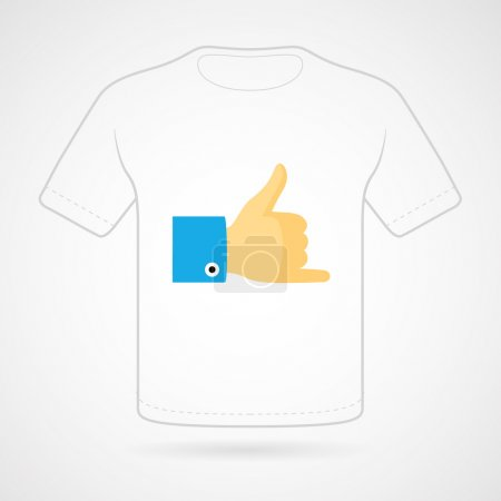 Illustration for This is a vector illustration of T-shirt with funny print on white background. Vector  print - Royalty Free Image