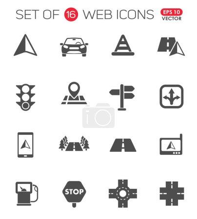 Illustration pour Icônes vectorielles route pour vos idées créatives - image libre de droit
