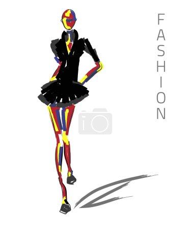 Fashion model black