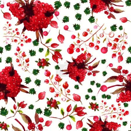 Photo pour Aquarelle papier peint floral motif ou fond sans couture - image libre de droit
