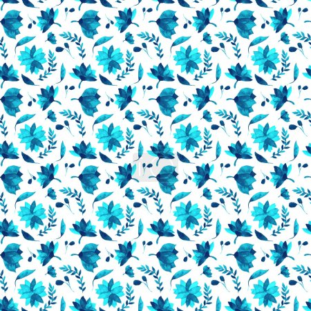 Photo for Watercolor floral  wallpaper seamless pattern or background - Royalty Free Image