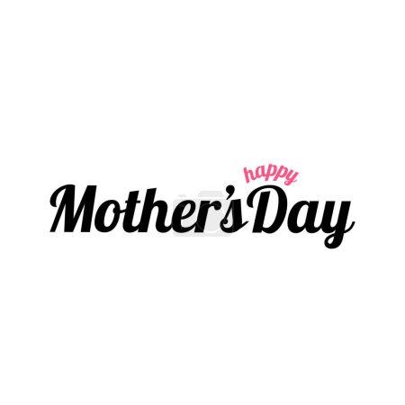 Illustration pour Happy Mothers day greetings card (Turc : Anneler gnnz kutlu olsun. Anneler gunu kutlu olsun.) Bonne fête des mères Calligraphie avec coeur coupé en papier. - image libre de droit