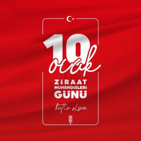 10. Januar Tag der Agraringenieure. (Türkische Übersetzung: 10 Ocak Ziraat Mhendisleri Gn).