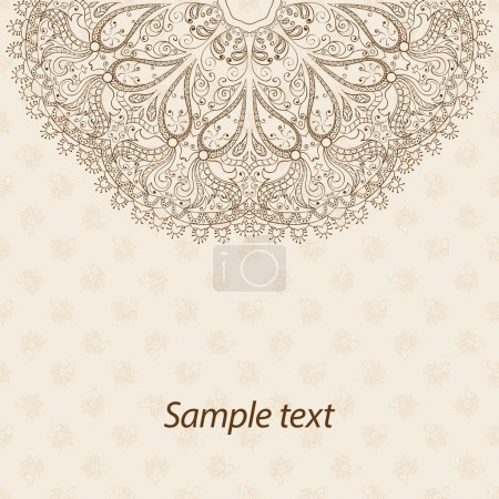 Card or invitation. Mandala. Vintage decorative elements. Hand drawn background. Islam, Arabic, Indian, ottoman motifs.