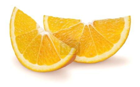 Photo pour Studio photo de deux tranches d'orange - image libre de droit