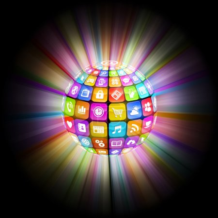 Colorful Flaring App Sphere