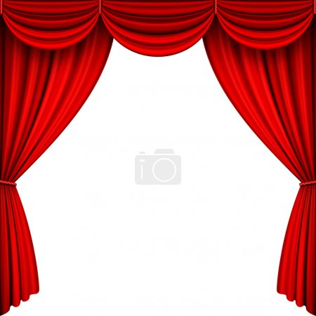 Vector Red Stage Curtains.