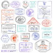 A high quality collection of vector passport stamps