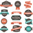 Thirteen banners on a plain white background. Some...