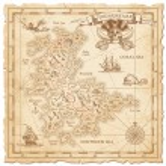 A Hi detail, grunge Vector Treasure Map with lots ...