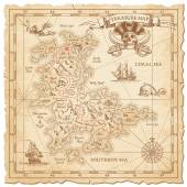 Hi detail Vector Treasure Map