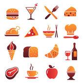 Vector Color Food Icons Collection 1