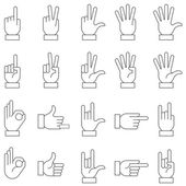 White Vector Hand Signs Collection 2