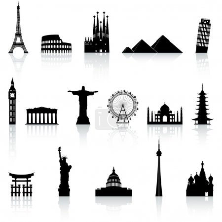 Vector Famous Monument icons Set