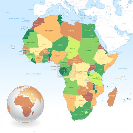 Vector Classic Africa Map