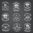 Vintage Looking Skull Pirate Logos and Insignia on...