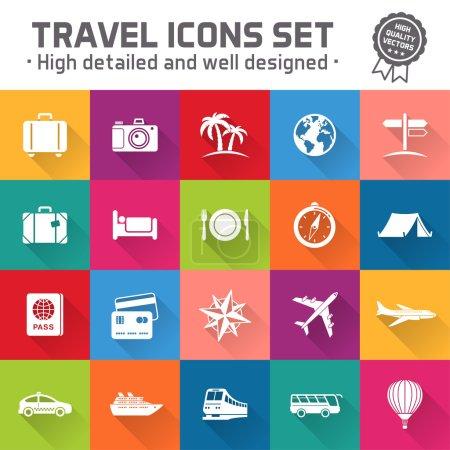 Hi quality travel vector icon set