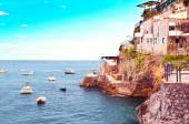 Itálie, Furore, 13 září 2013 - pohled do zálivu Furore