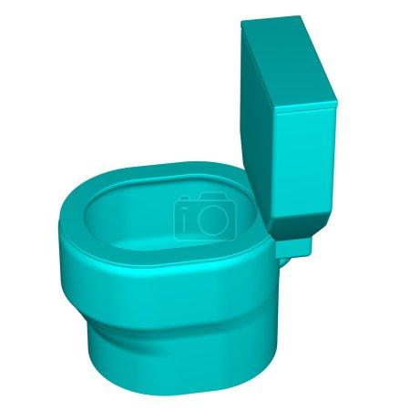 Toilet seat, isolated on white background.