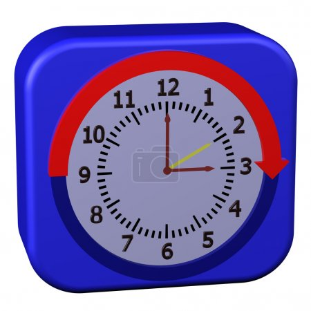Concept - Daylight Saving Time Started, isolated o...