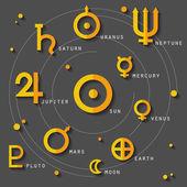 Astrology and zodiac symbols