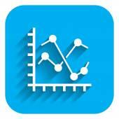 Line histogram icon