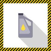 Plastic bottle of engine oil