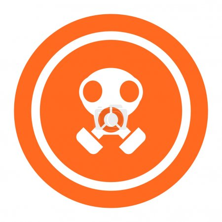 Illustration for Gas mask icon - Royalty Free Image