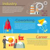 Industry co-working and career concepts