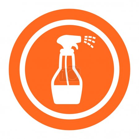 Illustration for Icon of spray bottle with cleaning liquid - Royalty Free Image