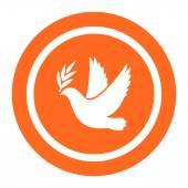 Dove of peace icon