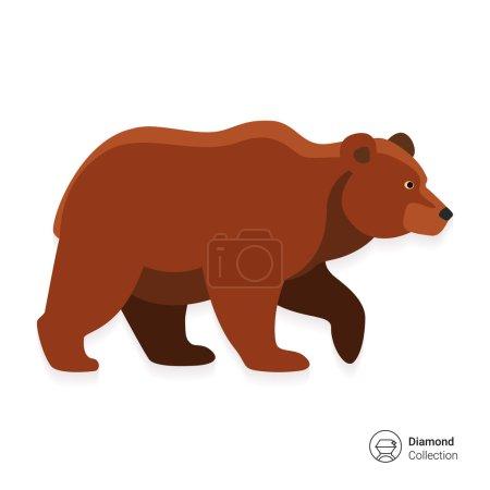 Illustration pour Icône d'ours brun - image libre de droit
