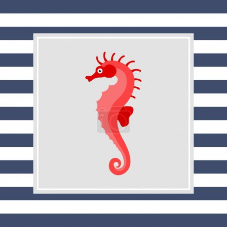 Illustration for Seahorse icon - Royalty Free Image
