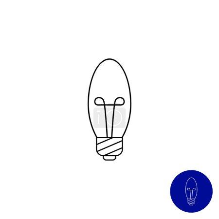 Minion candle bulb
