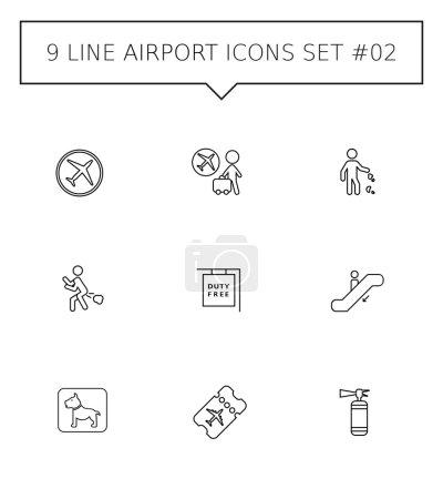 Airport icon set 1