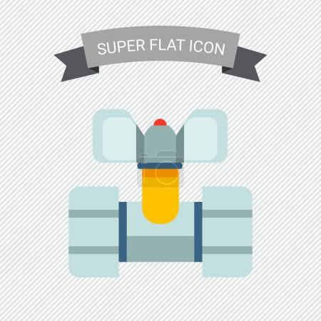 Illustration for Ball valve icon - Royalty Free Image