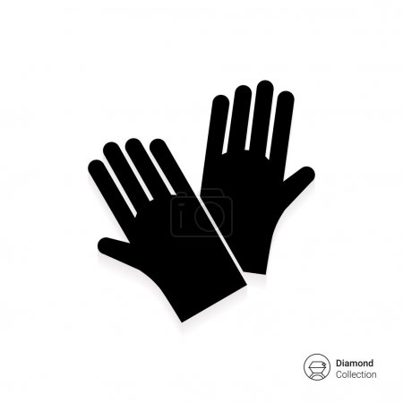 Icon of protective rubber gloves...