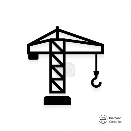 Tower crane icon