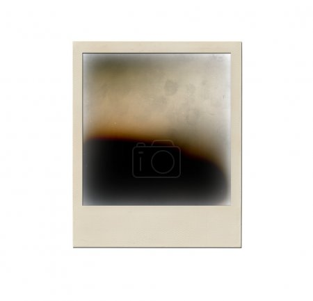 Photo pour Vieux cadre photo instantané isolé sur fond blanc. Polaroid photo - image libre de droit