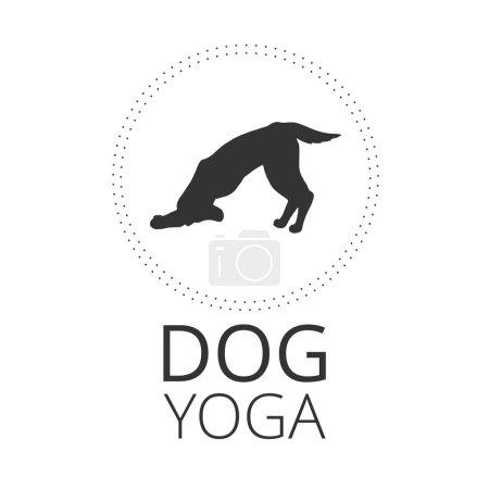 Dog yoga pose in circle.