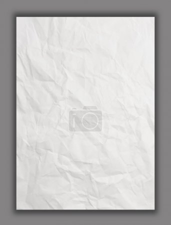 White crumpled paper isolated, Clipping path