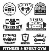 Set of fitness gym and sport club logo