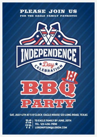 Barbecue's party invitation and response card