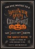 Typography Halloween Party and costume contest Invitation
